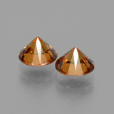 2.07 ct Diamond-Cut Golden Orange Zircon Gem 7.16 mm  (Photo C)