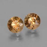 2.14 ct Diamond-Cut Golden Zircon Gem 7.12 mm  (Photo B)