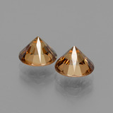 2.14 ct Diamond-Cut Golden Zircon Gem 7.12 mm  (Photo C)