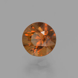 1.43 ct Diamond-Cut Golden Orange Zircon Gem 6.05 mm  (Photo B)