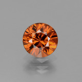 thumb image of 1.7ct Diamond-Cut Orange Zircon (ID: 437503)