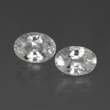 thumb image of 2.4ct Oval Facet White Zircon (ID: 439034)