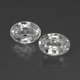 thumb image of 2.6ct Oval Facet White Zircon (ID: 439931)