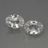 thumb image of 2.4ct Oval Facet White Zircon (ID: 440039)