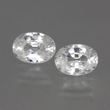 thumb image of 2.6ct Oval Facet White Zircon (ID: 440131)