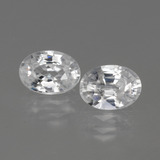 thumb image of 1.2ct Oval Facet White Zircon (ID: 440141)