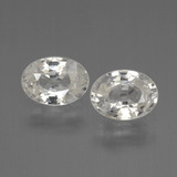thumb image of 2.1ct Oval Facet White Zircon (ID: 440185)
