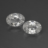 thumb image of 2.3ct Oval Facet White Zircon (ID: 440528)