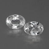 thumb image of 1.4ct Oval Facet Clear White Zircon (ID: 440631)