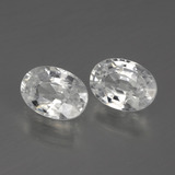 1.24 ct Oval Facet White Zircon Gem 7.10 mm x 5.1 mm (Photo B)