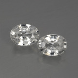 thumb image of 1ct Oval Facet White Zircon (ID: 440777)