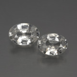 thumb image of 1.1ct Oval Facet White Zircon (ID: 440846)