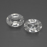 thumb image of 2.1ct Oval Facet White Zircon (ID: 440848)
