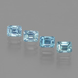 thumb image of 1.9ct Octagon Facet Blue Zircon (ID: 444593)