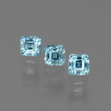 thumb image of 0.6ct Octagon Facet Blue Zircon (ID: 444603)