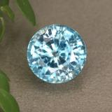 thumb image of 3.9ct Round Facet Blue Zircon (ID: 445048)