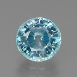thumb image of 3.3ct Round Facet Blue Zircon (ID: 445050)