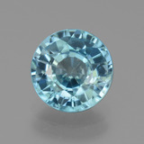 thumb image of 3.6ct Round Facet Blue Zircon (ID: 445051)