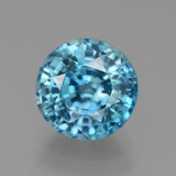 thumb image of 3.5ct Round Facet Blue Zircon (ID: 445052)