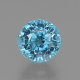 thumb image of 3.3ct Round Facet Blue Zircon (ID: 445053)