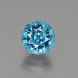thumb image of 3.5ct Round Facet Blue Zircon (ID: 447489)