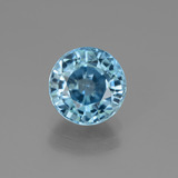 thumb image of 3ct Round Facet Blue Zircon (ID: 447490)