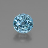 thumb image of 2.8ct Round Facet Blue Zircon (ID: 447493)