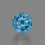 thumb image of 2.3ct Round Facet Blue Zircon (ID: 447544)