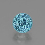 thumb image of 2ct Round Facet Blue Zircon (ID: 447545)