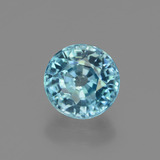 thumb image of 2ct Round Facet Blue Zircon (ID: 447546)