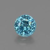 thumb image of 2ct Round Facet Blue Zircon (ID: 447550)