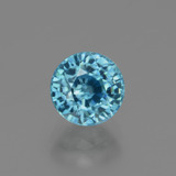 thumb image of 2.9ct Round Facet Blue Zircon (ID: 447551)
