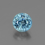thumb image of 2.5ct Round Facet Blue Zircon (ID: 447552)