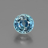 thumb image of 2.5ct Round Facet Blue Zircon (ID: 447553)