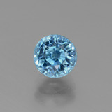 thumb image of 2.7ct Round Facet Blue Zircon (ID: 447574)