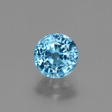 thumb image of 2.2ct Round Facet Blue Zircon (ID: 447973)