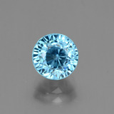 thumb image of 2.6ct Round Facet Blue Zircon (ID: 447975)