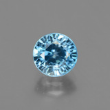 thumb image of 2.3ct Round Facet Blue Zircon (ID: 447978)