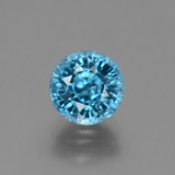 thumb image of 3.1ct Round Facet Blue Zircon (ID: 449506)