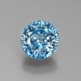 thumb image of 3.8ct Round Facet Blue Zircon (ID: 449509)