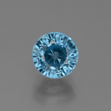 thumb image of 3ct Round Facet Blue Zircon (ID: 449510)
