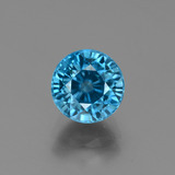thumb image of 3.1ct Round Facet Blue Zircon (ID: 449512)