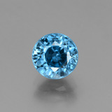 thumb image of 2.7ct Round Facet Blue Zircon (ID: 449932)