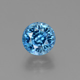 thumb image of 2.8ct Round Facet Blue Zircon (ID: 449933)