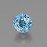 thumb image of 1.8ct Round Facet Blue Zircon (ID: 449940)