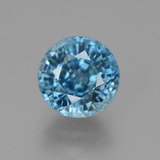 thumb image of 4.9ct Round Facet Blue Zircon (ID: 450890)