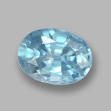thumb image of 1.2ct Ovale facette Bleu Zircon (ID: 459374)