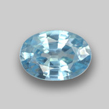 thumb image of 1.1ct Oval Facet Blue Zircon (ID: 459392)
