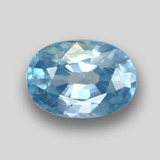 thumb image of 1.5ct Oval Facet Blue Zircon (ID: 459397)