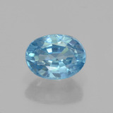 thumb image of 1.3ct Oval Facet Blue Zircon (ID: 459520)